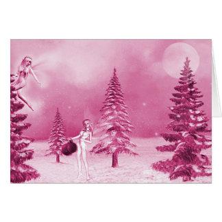 Navidad de hadas que adorna la tarjeta