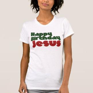 Navidad de Jesús del feliz cumpleaños Camisetas