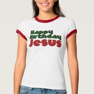 Navidad de Jesús del feliz cumpleaños Camiseta