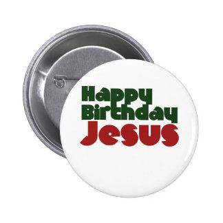 Navidad de Jesús del feliz cumpleaños Chapa Redonda De 5 Cm