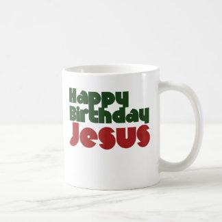 Navidad de Jesús del feliz cumpleaños Tazas De Café