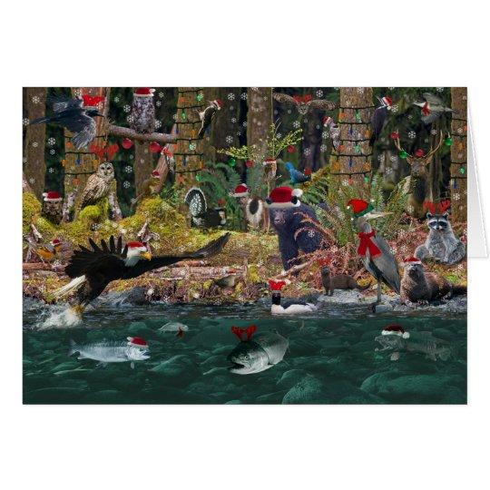 Navidad de la costa oeste tarjeta de felicitación