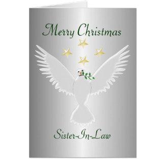 Navidad de la cuñada tarjeta de felicitación