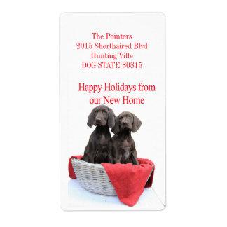 Navidad de la dirección de las hermanas del etiquetas de envío