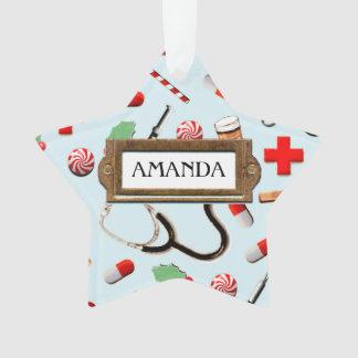 navidad de la enfermera adorno