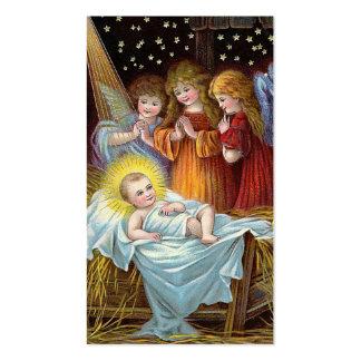 Navidad de la escena de la natividad tarjeta de visita