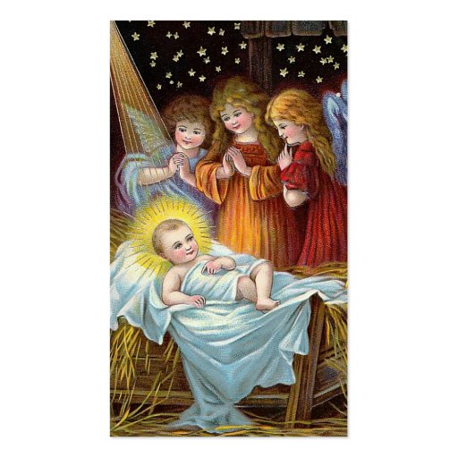 """Navidad de la escena de la natividad"" Tarjeta De Visita"