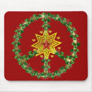 Navidad de la estrella de la paz alfombrilla de ratón