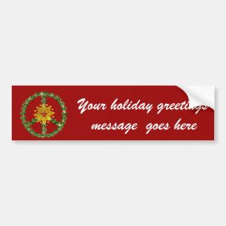 Navidad de la estrella de la paz pegatina para coche