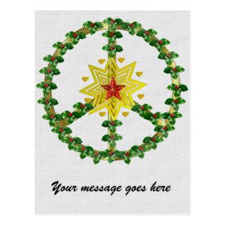 Navidad de la estrella de la paz postal