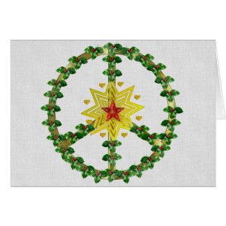 Navidad de la estrella de la paz tarjeta de felicitación