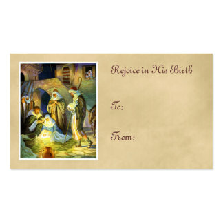 Navidad de la etiqueta del regalo de Jesús del pes Tarjeta De Negocio
