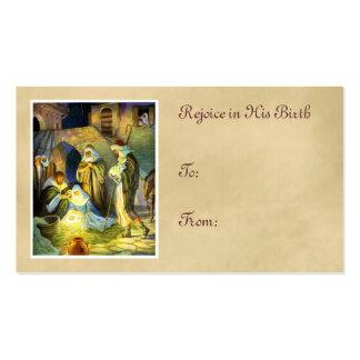 Navidad de la etiqueta del regalo de Jesús del Tarjetas De Visita