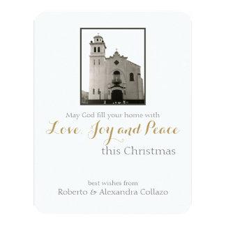 Navidad de la iglesia católica invitación 10,8 x 13,9 cm