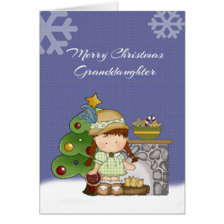 Navidad de la nieta tarjeta de felicitación