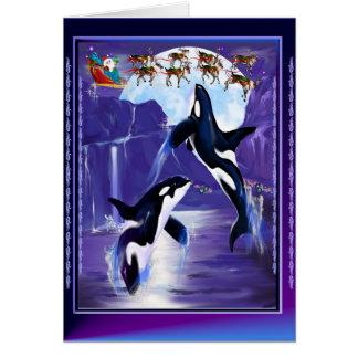 Navidad de la orca tarjetas