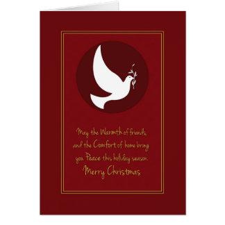 Navidad de la paz de la comodidad del calor tarjeta de felicitación