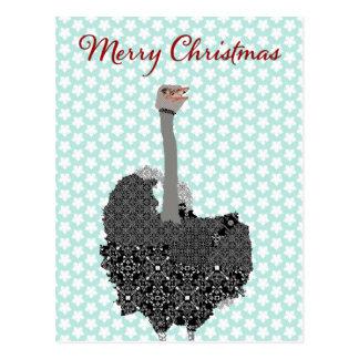 Navidad de la postal de la estrella azul de la ave