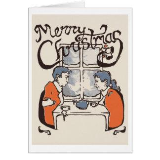 Navidad de la prensa de copiar tarjetas