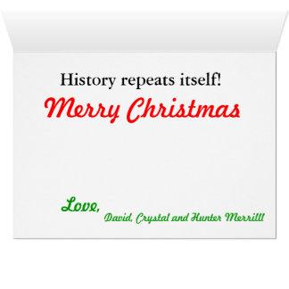Navidad de la tarjeta