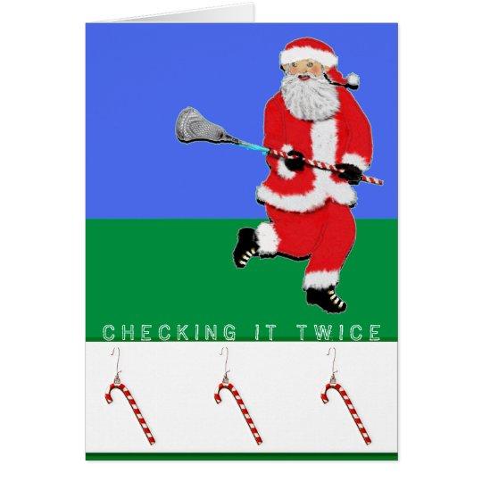 Navidad de LaCrosse Tarjeta De Felicitación