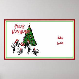 NAVIDAD de las PULGAS - Pulgas y árbol de navidad Póster