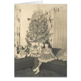 navidad de los años 50 tarjeta de felicitación