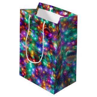 Navidad de lujo bolsa de regalo mediana