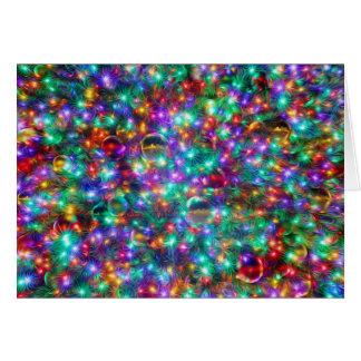 Navidad de lujo tarjeta de felicitación