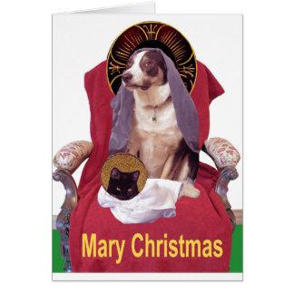 Navidad de Maria Tarjeta Pequeña