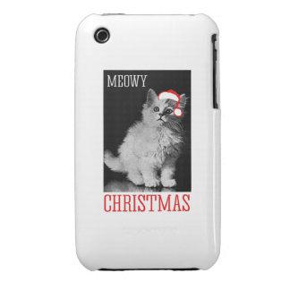 Navidad de Meowy Case-Mate iPhone 3 Funda