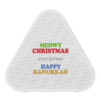 Navidad de Meowy -- Humor del día de fiesta Altavoz Bluetooth