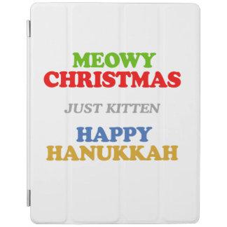 Navidad de Meowy -- Humor del día de fiesta Cubierta De iPad