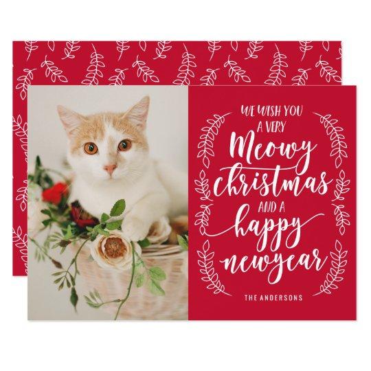 Navidad de Meowy Invitación 12,7 X 17,8 Cm