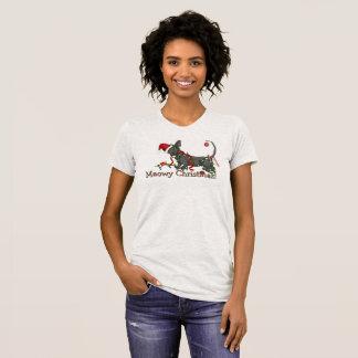 ¡Navidad de Meowy! Sphynx y camiseta del Bambino