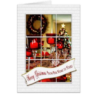 Navidad - de nuestro hogar el suyo - opinión de la tarjeta de felicitación