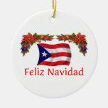 Navidad de Puerto Rico Adorno Redondo De Cerámica
