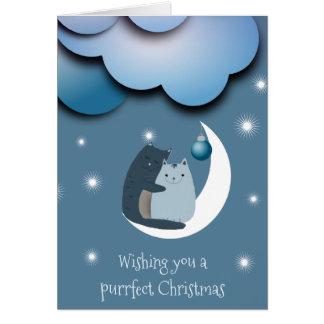 Navidad de Purrfect Tarjeta De Felicitación