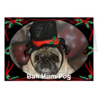 Navidad de Sam, Ronquido-Barro amasado de Bah Tarjeta De Felicitación
