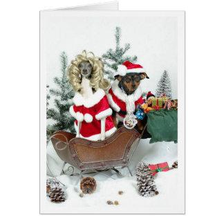 Navidad de un Blingy Tarjeta