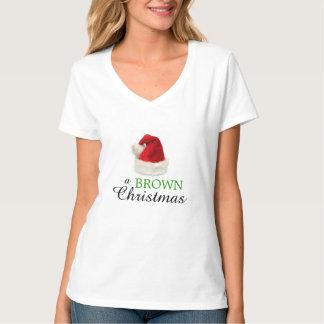Navidad de un BROWN Camisetas