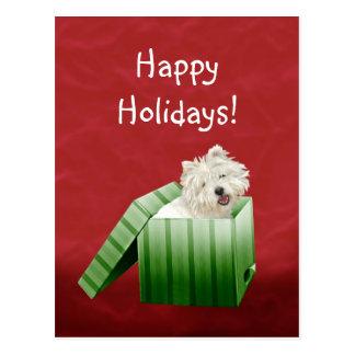 Navidad de Westie Postal