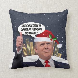 ¡Navidad de Yuge! Almohada de tiro del día de