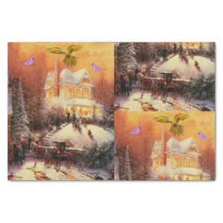 Navidad decorativo del papel seda