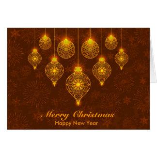 Navidad decorativo que saluda tarjeta