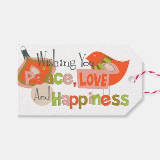 Navidad del amor de la paz etiquetas para regalos