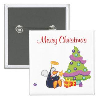 Navidad del ángel del pingüino pin