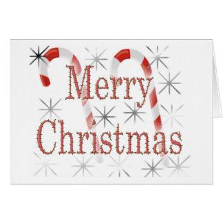 Navidad del bastón de caramelo tarjeta