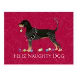 Navidad del Coonhound de Bluetick Postal