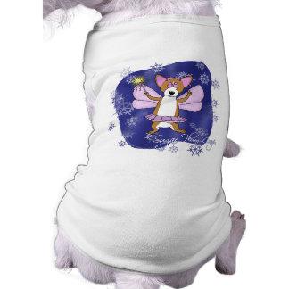 Navidad del Corgi del ciruelo del azúcar Camisas De Mascota